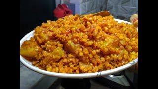 মসুর ডালের দম | Masoor Daler Dom | red lentils and potato curry |
