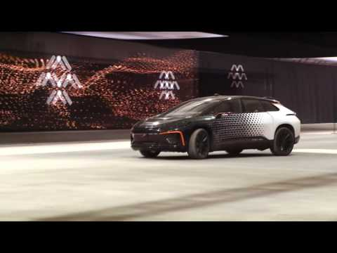 Testing out Faraday Future's new FF91 car at break-neck speeds