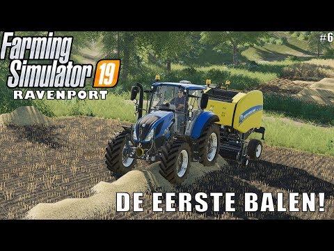 'DE EERSTE BALEN!' Farming Simulator 19 Ravenport #6