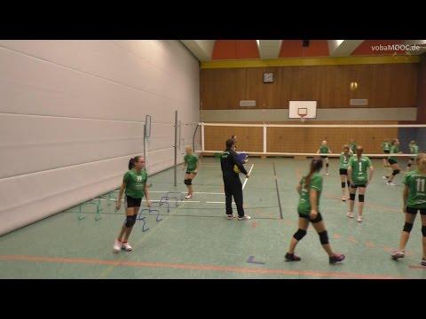 Kleine Hürden zur �berbrückung von Wartepositionen im Volleyball-Training