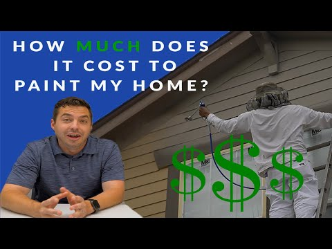 How Much It Costs to Paint An Exterior #painting #roofing