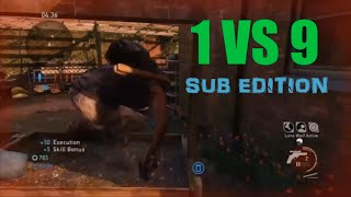 1 vs 9 Comeback (Subscriber Edition) - The Last of Us: Remastered Multiplayer (Water Tower)
