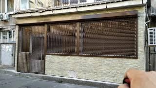"""Մոնտաժ """"Ռոմէրսոն""""ՍՊԸ,Վարդանանց փողոցում. Բոլոր եվրոպական ստանդարտներին համապատասխանող ռուլոնային ճաղավանդակ(роллетная решетка) Alutech."""