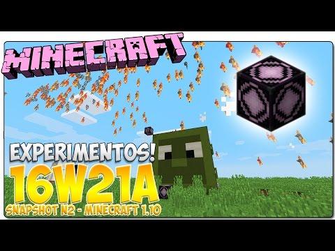 MINECRAFT 1.10 - SNAPSHOT 16W21A | ¡Mobs voladores! | REVIEW, NOVEDADES Y NOTICIAS EN ESPAÑOL