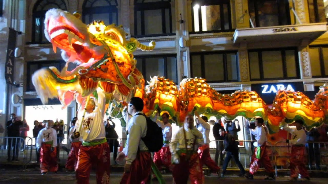 san francisco chinese new year parade 2016 leungs white crane dragon lion dance association youtube - San Francisco Chinese New Year