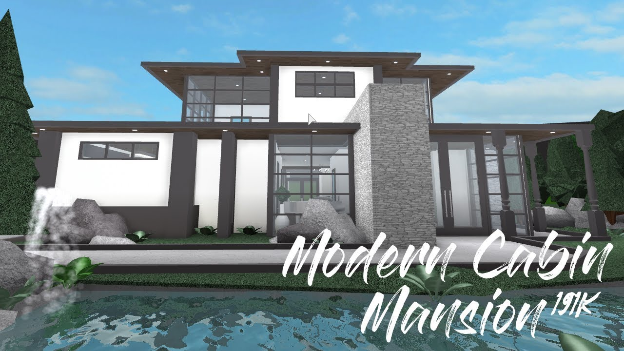 Welcome To Bloxburg: Modern Cabin Mansion - YouTube