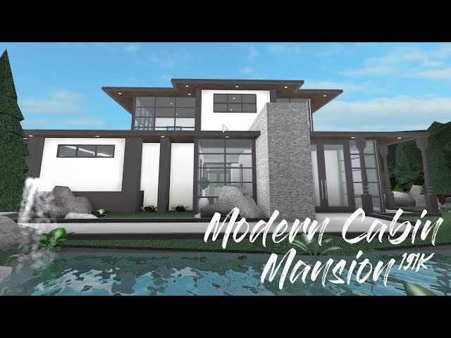 ROBLOX | Welcome to Bloxburg: Modern Cabin Mansion ...
