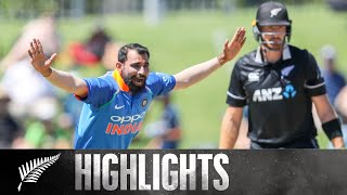 Shami Stuns With Opening Spell | HIGHLIGHTS | 1st ODI - BLACKCAPS v India, 2019