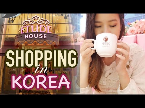 Shop with me in KOREA | Makeup Shopping in Korea & Street Food!