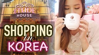 Shop with me in KOREA | Makeup Shopping in Korea & Street Food!