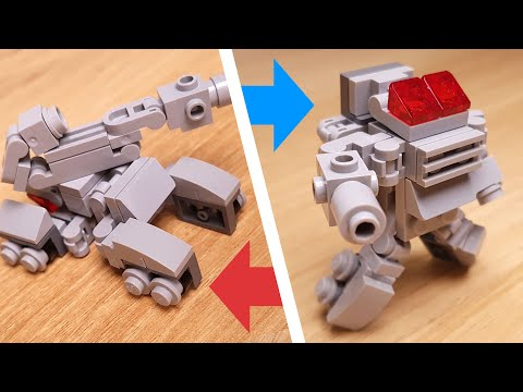 [LEGO Mini Robot Tutorial] Tank Transformer Mecha (similar with Megatron and Shockwave)