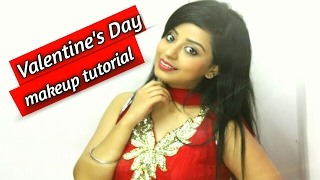 valentine s day makeup tutorial 1 in hindi cc for subtitle