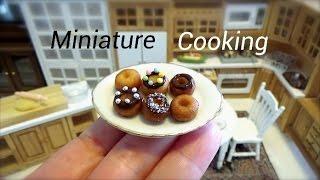 Miniature Food #26-ミニチュア料理-『ドーナツ-Donut-』 Miniature Cooking Edible Tiny Food Tiny Kitchen Mini Food