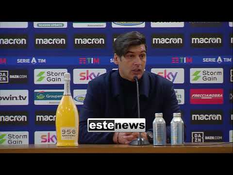 """Lazio-Roma 3-0, Fonseca: """"Non è stato un problema tattico. Gli obiettivi non cambiano"""""""