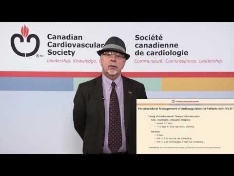 Perioperative Management of Anticoagulation: 2016 CCS Atrial Fibrillation Guidelines