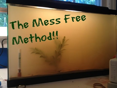 HOW TO: Add Sand To Your Aquarium / MESS FREE / DIY TUTORIAL