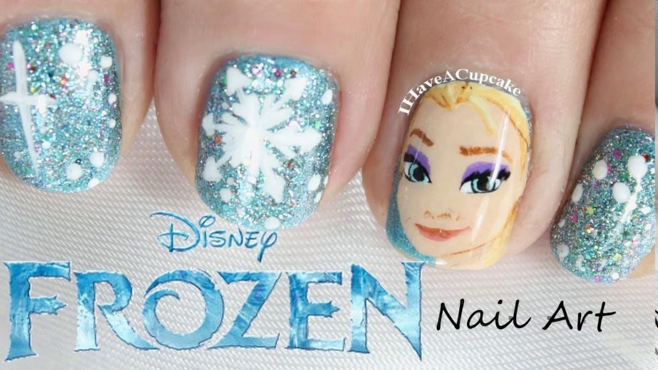 cute little girl nail design