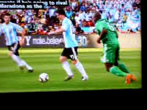 Argentina vs Nigeria  12.06. 2010 WORLD CUP 1-0
