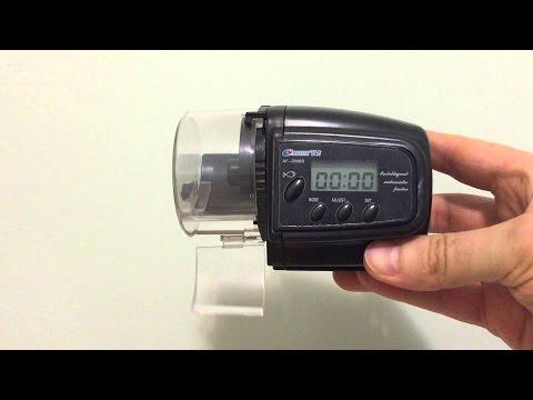 Unboxing Alimentador automático con pantalla LCD 4 memorias