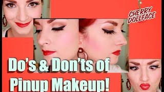 Vintage Pinup Makeup DO's & DON'Ts by CHERRY DOLLFACE