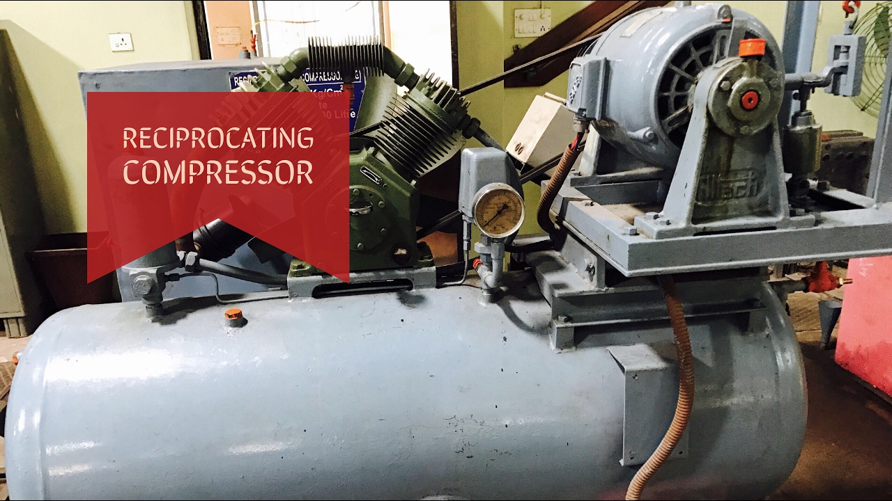 Reciprocating Air Compressor Working Parts Thermal Lab Youtube Schematic