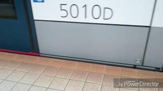 【響く!シーメンスIGBT】広島電鉄5000形『GREENMOVER』原爆ドーム前到着〜発車