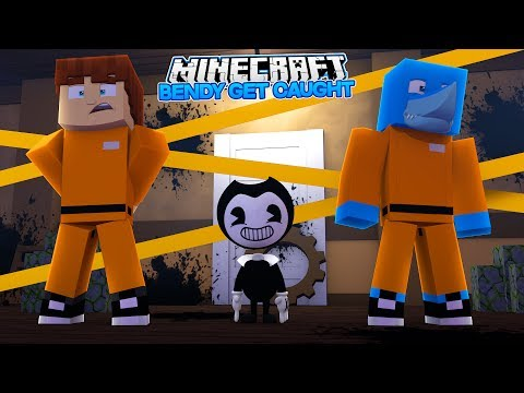 SENDING BENDY AND THE INK MACHINE BACK TO JAIL - Minecraft w/ Sharky and Scuba Steve