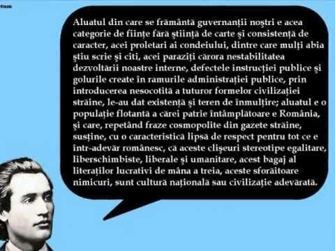 citate despre limba romana mihai eminescu Mihai Eminescu   Citate despre starea naţiunii române   YouTube citate despre limba romana mihai eminescu