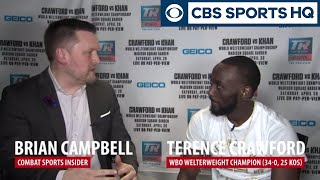 Terence Crawford Talks About How He Will BEAT DOWN Amir Khan | CBS Sports