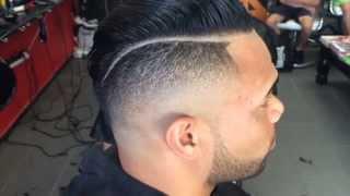 Razor fade (slick back hairstyle)