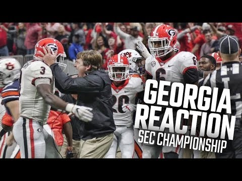 Georgia bench goes crazy after Dawgs block Auburn field goal in SEC Championship