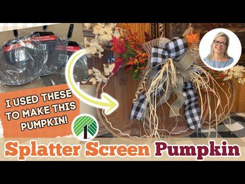 FALL DOLLAR TREE Splatter Screen Rustic Pumpkin | Easy DIY | Country Crafts