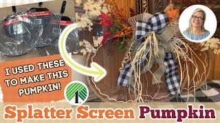 FALL DOLLAR TREE Splatter Screen Rustic Pumpkin | Easy DIY | Country Crafts