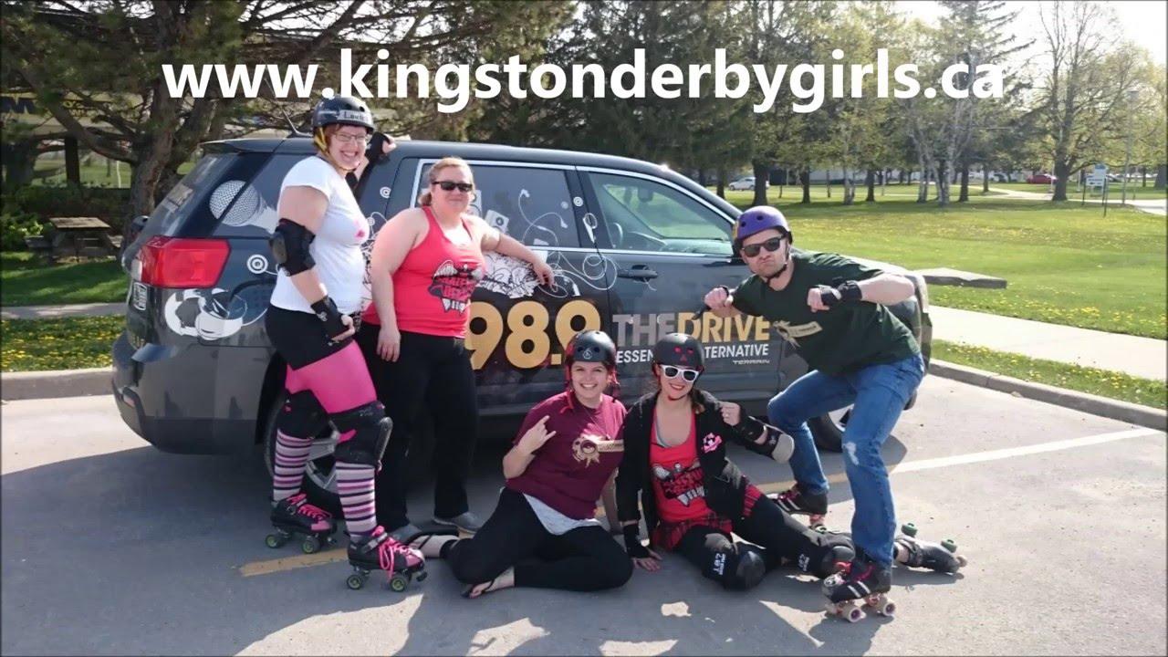 Roller skates kingston - Reid And Rebecca With Kingston Derby Girls