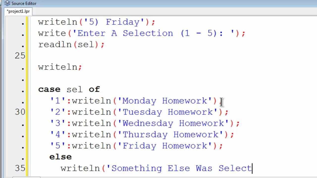 Free Pascal Program Tutorial 12 - Menus For User Friendly Programs ...