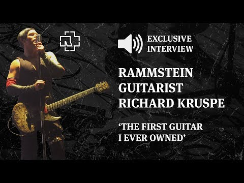 Rammstein's Richard Z. Kruspe Talks About The First Guitar He Ever Owned (Exclusive Interview)