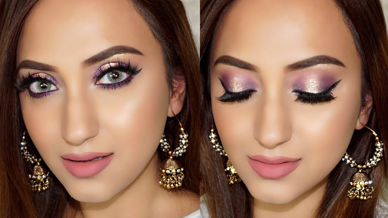 ENGAGEMENT PARTY MAKEUP LOOK - Purple Halo Eyes - YouTube