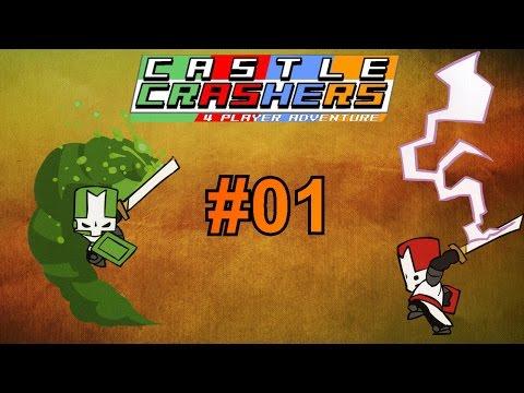 Castle Crashers Gameplay Together ♥♥♥ 001 : 2 tapfere Helden #DankeMerkel Deutsch German Gameplay !!