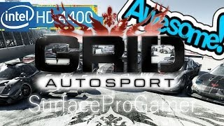 Grid Autosport (PC) on Microsoft Surface Pro 2 Playing on intel hd 4400 Gameplay setting