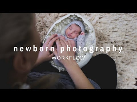 NEWBORN PHOTOGRAPHY WORKFLOW behind the scenes