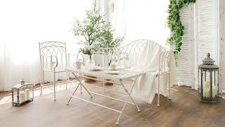 마르세유 철제 벤치 야외 카페 의자 테이블 세트 mis…
