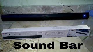 Portronics Sound Slick II POR-936 Wireless Bluetooth 40W Sound Bar (Black)