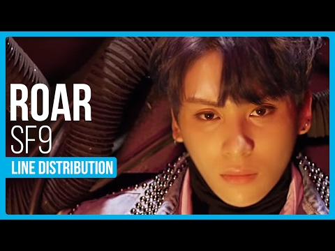 SF9 - Roar (부르릉) Line Distribution (Color Coded)
