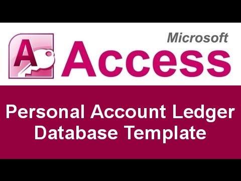 Microsoft Access Personal Account Ledger Database Template - YouTube - account ledger template