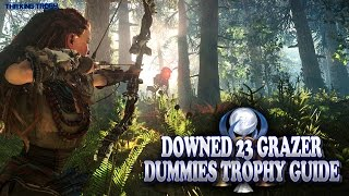Horizon Zero Dawn | Downed 23 Grazer Dummies Trophy Guide | All 23 Locations