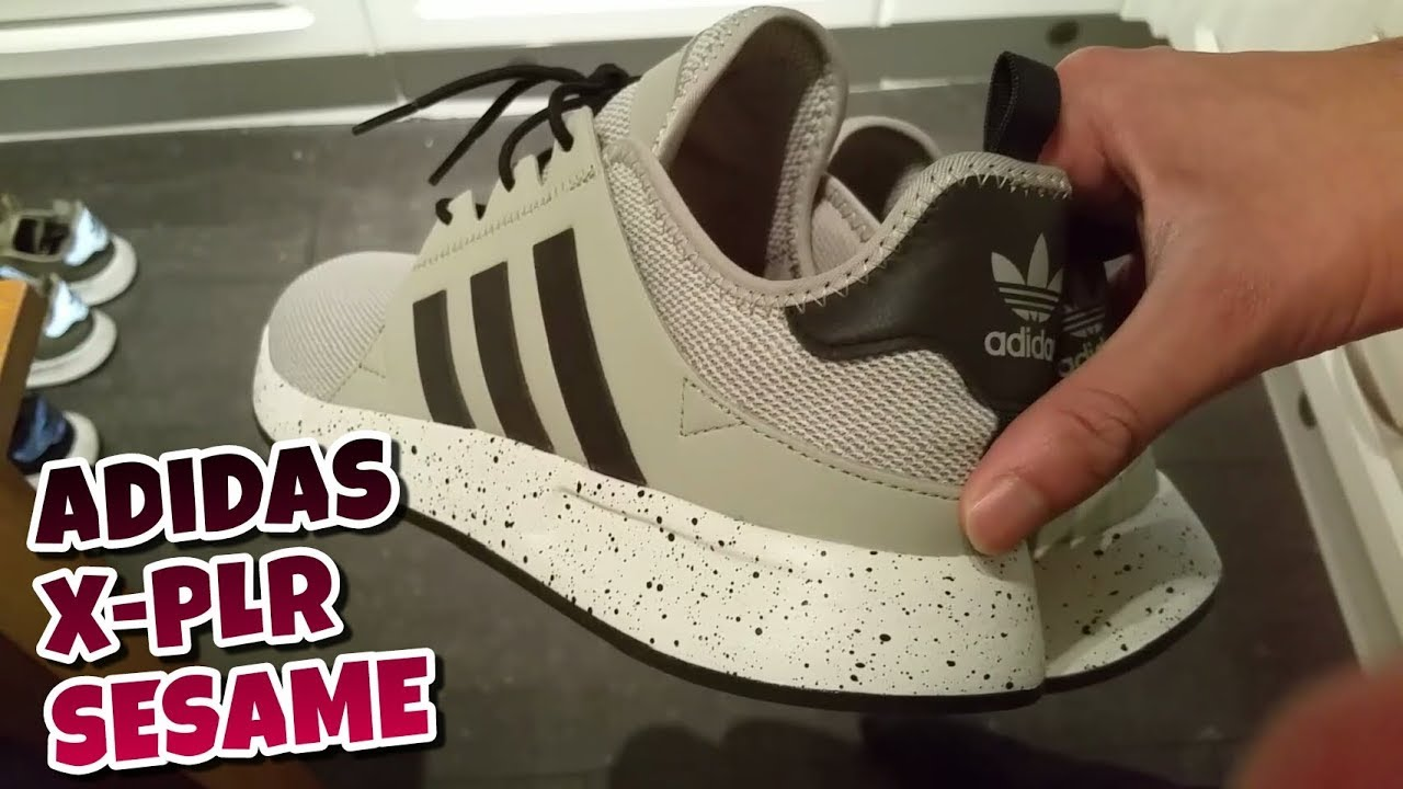brand new 67363 84f7a Adidas X-PLR Sesame Unboxing And Review