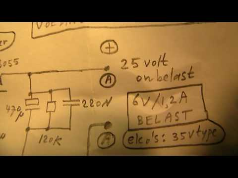 Power supply for a tube amplifier (schematic)