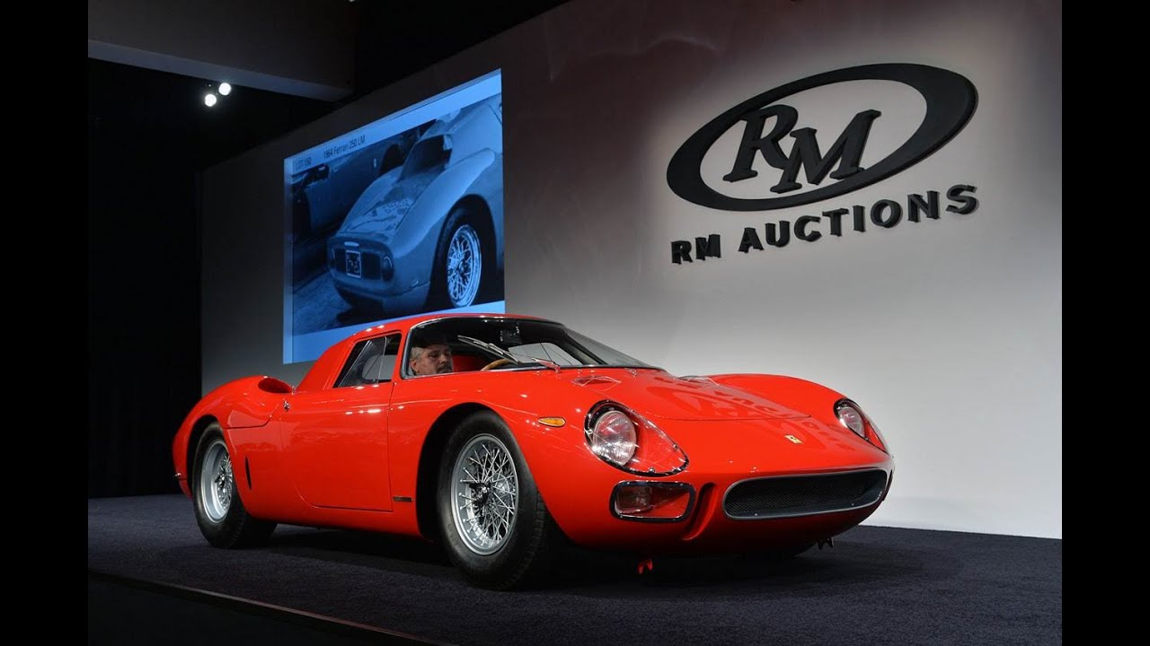11 55 million 1964 ferrari 250 lm highlights rm auctions first night in monterey