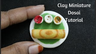 Miniature clay Dosai | Miniature fridge magnet|south indian foods in air dry clay
