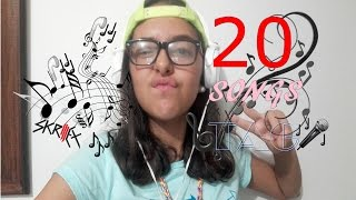 20 Songs Tag - María Castillo